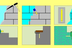 Схема штукатурки стен из кирпича