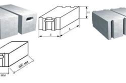 Размеры ячеистого бетона