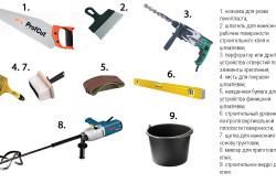 Инструменты для утепления стены
