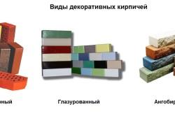 Виды декоративных кирпичей