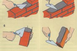Схема кладки стенок бассейна