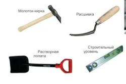Инструменты для облицовки стен