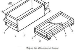 Схема формы для производства арболитовых блоков