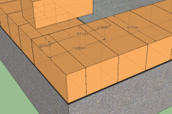Схема толщины кладки стены