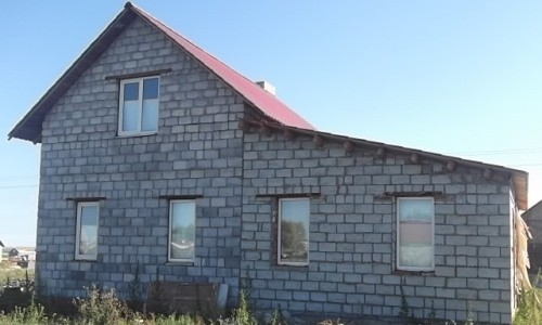 Дом, построенный из шлакоблока