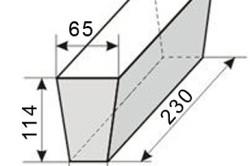 Параметры клиновидного кирпича Ш-45