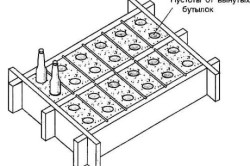 Деревянная форма для изготовления шлакоблоков