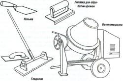 Инструменты для приготовления цементного раствора