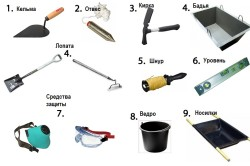 Инструменты для строительства бани из пеноблоков