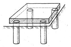Столбчатый фундамент для печи