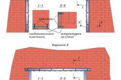 Схема усиления проема рамами из швеллеров