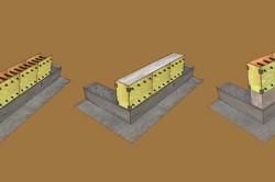 Схема кладки монолитной стены из керамзитобетона