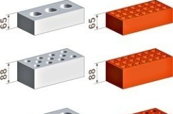 Схема различных видов кирпича