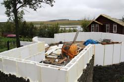 Фундамент круглого дома из пенопласта