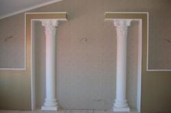 Установленные колонны