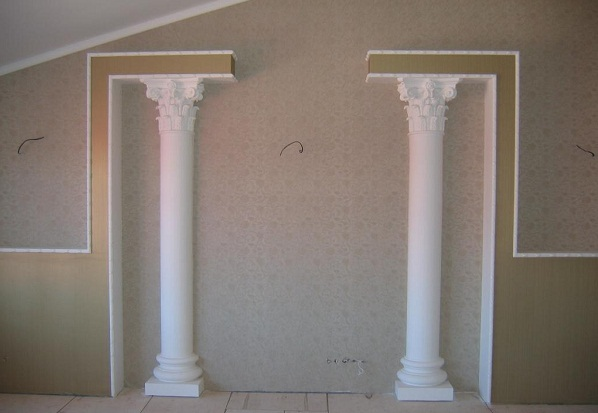 Как сделать колонны своими руками из пенопласта