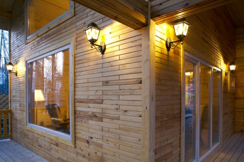 Дом из деревянного кирпича своими руками