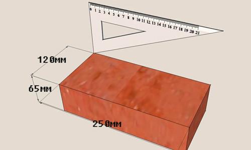 Размеры стандартного красного кирпича