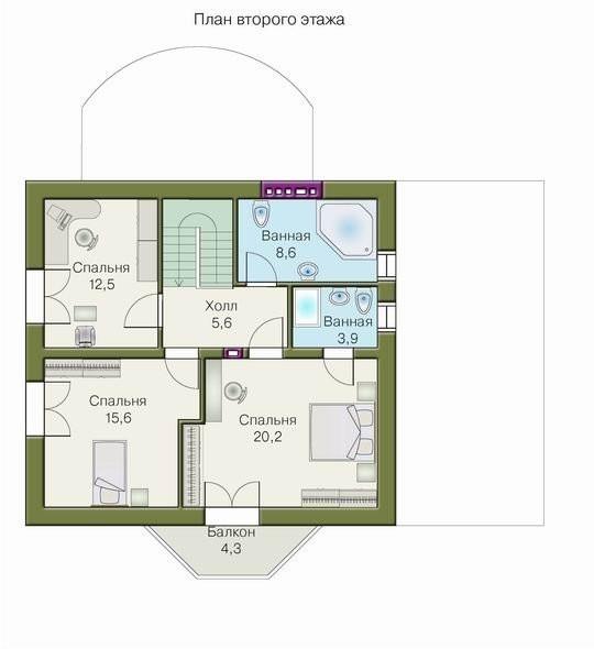 Схема дома из пеноблоков: план