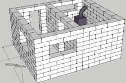 Схема – проект бани из газобетона
