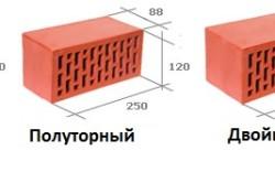 Стандарт размеров кирпича