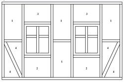 Схема расположения форм для утепляющего материала