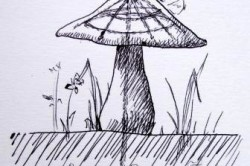Схема бетонной фигуры гриба с каркасом