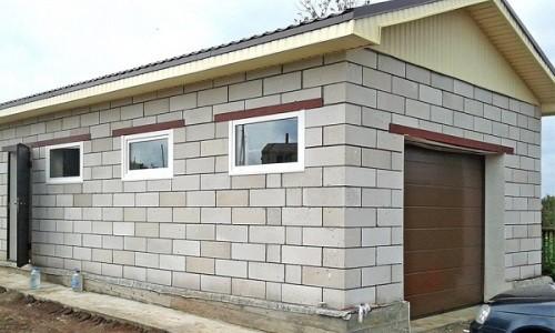 Конструкция гаража из пеноблоков