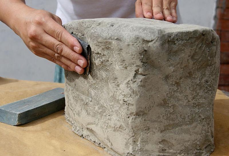 Декоративный камень своими руками из цемента