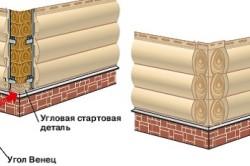 Монтаж винилового блок-хауса