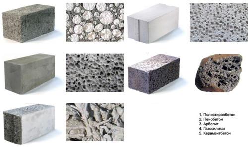 Разновидности стеновых блоков