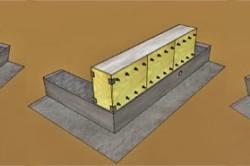 Схема возведения стены из керамзитобетона