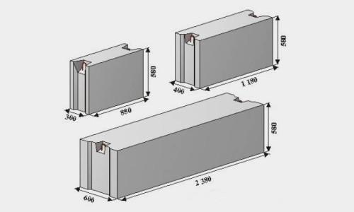 Виды и размеры фундаментных блоков
