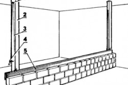 Кладка перегородки в четверть кирпича при помощи направляющей доски