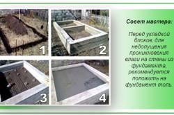Строительство фундамента бани