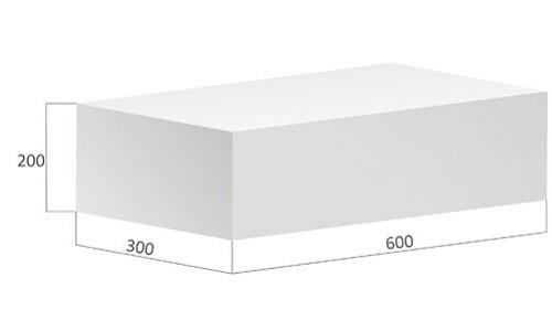Типовые размеры строительного газосиликатного блока