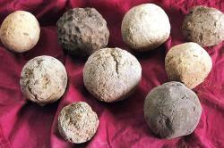 Шарики из глиняного раствора