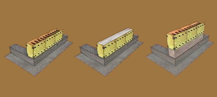 Схема кладки монолитной стены