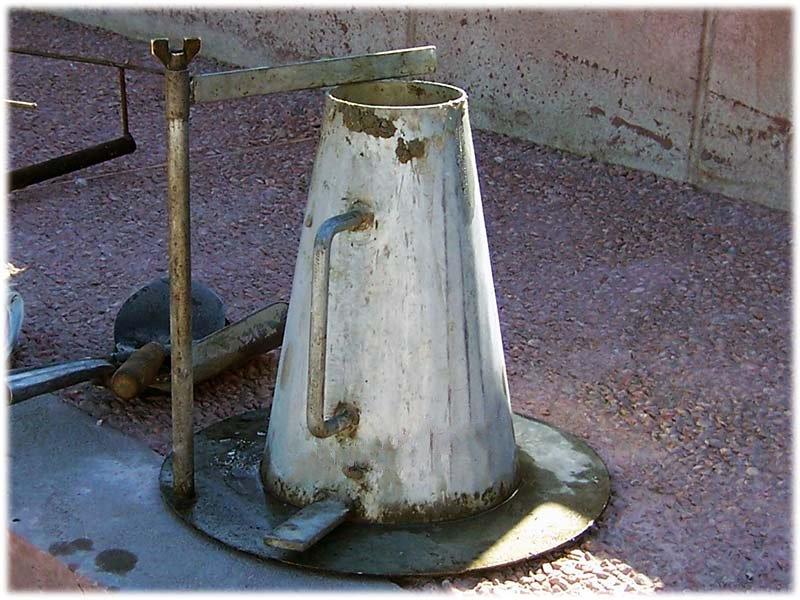 Конус бетон проверка подача бетонной смеси к месту укладки в бадьях