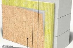 Утепление стен из пеноблока с помощью штукатурки