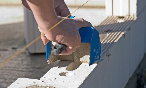 Укладка цементного раствора размер блока керамзитобетона