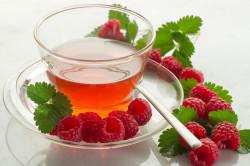 Чай с малиной для лечения бронхита